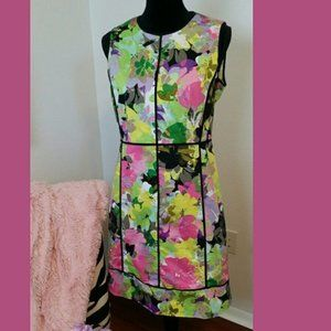 Classic Sleeveless Floral Dress by Calvin Klein
